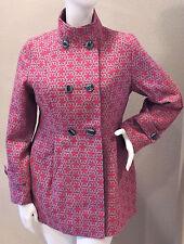 Funky People Modern Wool Blend Peacoat - Pink Flowers - Plus 14 16 18 - New!