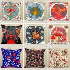 Ethnic Style Folk Art Painting Pillowcase Throw Cushion Pillow Cover Home Decor
