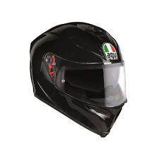 AGV K5 Plain Gloss Black Full Face Motorcycle Helmet Sun Visor