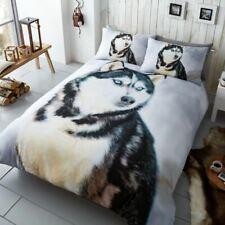 HUSKY DOG PHOTO PRINT DUVET COVER SET REVERSIBLE BEDDING - SINGLE, DOUBLE, KING