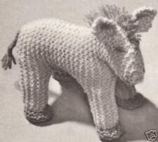 Horse Stuffed Animal Baby Toy Knitting Pattern Vintage