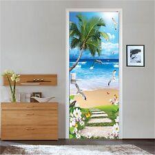 3D Ocean Beach Fish 4 Door Wall Mural Photo Wall Sticker Decal AJ WALLPAPER CA