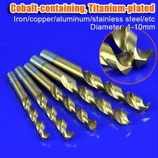 1-10mm Cobalt Twist Drill Bit Set For Iron Stailness Steel Copper Metal Cutting