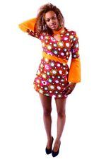 sexy Hippie Kleid für Damen Hippiekostüm Hippiekleid Sommerkleid Flower Power