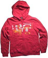 Women's Oakley Carny Fleece Hoodie Jacket Lightweight Lava Pink Size XS S M XL