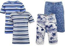New Mens Kangol Crew Neck T-shirt Designer Jack South Printed 3/4 Beach Shorts