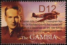 Raf Bristol Beaufighter Ojos De Gato Cunningham aviones Sello de menta (2004 Gambia)