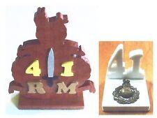 41 COMMANDO ROYAL MARINES SCROLLSAW DESK ORNAMENT - WOOD OR WHITE STONE