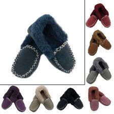 Men Women 100% Sheepskin Moccasins Slippers Slip on Winter Casual Soft