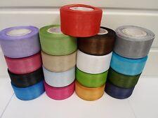 40mm Sheer Organza Ribbon 2 metres or 25 metre roll double sided 40 UK VAT Reg