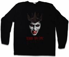 Les Vampires Blood for Life Manches Longues T-shirt dents dentier Jaws Dracula Vampire Sang