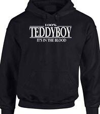 Teddyboy Hoody T-Shirt Sweater 100% It's In The Blood Hoodie Rocker Greaser