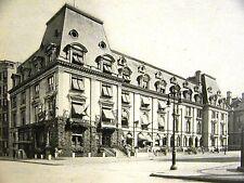 Plaza Bank & HERMANN OELRICH HOUSE PARAN STEVENS 1899 Antique Art Print Matted