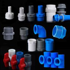 PVC-Wasserzuleitung Rohr Adapter mit Außen- / Innengewinde, verschiedene Größen