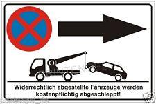 Parkverbot,Parkplatz,Schilder,Pfeil nach rechts,Halteverbot,Parkenverboten, P185