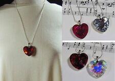 Handmade Faceted Crystal Heart Pendant