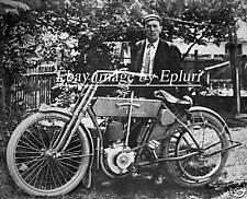 Early Vintage Harley Davidson Motorcycle 8 x 10 Photo