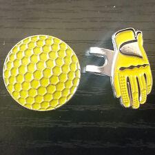 Fashion Glove+ Ball Design Hat Cap Clip Removable Metal Golf Ball Marker Outdoor