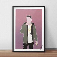 Logic Rapper INSPIRED WALL ART Print / Poster Minimal A4 A3 RAP Black Spiderman