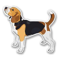 2 x Beagle Dog Sticker Car Bike iPad Laptop Decal Gift Cool Cartoon #4122