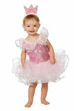 Prinzessin Kostüm Baby Prinzessin Kleid Mädchen rosa Krone Karneval Baby-Kostüm