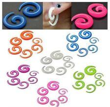 Piercing ècarteur ou expandeur spirale phosphorescent transparent