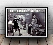 Dr Jekyll Y El Señor Hyde, Cartel De Publicidad Revista vintage reproducción.