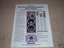 Celestion Ditton 662,551,442 Speaker Ad,Specs, Info