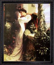 ROMEO and JULIET by Sir Francis Bernard Dicksee. Fine Art Poster Dark Frame