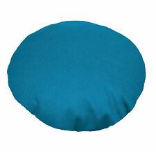 Aw44n Dp Turqoise Blue Round Shape 12oz Thick Cotton Canvas Cushion/Pillow Cover