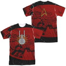 Star Trek - USS Enterprise Schematic Sublimation Front & Back Adult T Shirt