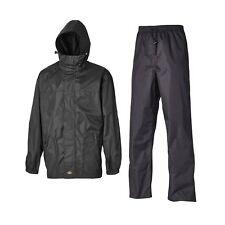 Dickies Waterproof & Breathable Suit Trouser Jacket Somerton Mens Workwear Black