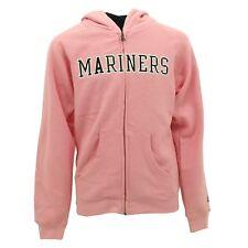 Seattle Mariners MLB Adidas Kids & Youth Girls Size Pink Hooded Sweatshirt New