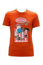 T.shirt da uomo arancione Joe Rivetto manica corta girocollo cotone casual moda