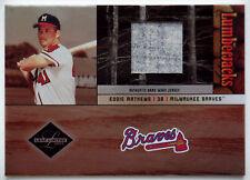 2004 Leaf Limited EDDIE MATHEWS Lumberjacks Jersey Rare Braves HOF SP #/100