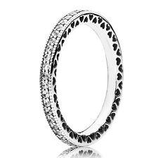 PANDORA Ring 190963 CZ Herzen Silber