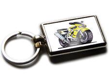 YAMAHA R6 Motorbike Koolart Chrome Keyring Picture Both Sides
