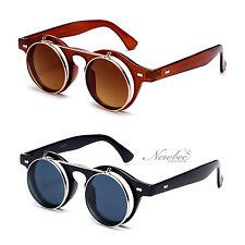 Classic John Lennon Inspired Vintage Retro Flip Up Lens Sunglasses Clear Lens