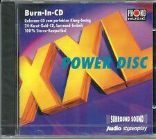 AUDIO/Stereoplay XXL Power Disc Burn-In-CD Test CD  24 Karat Gold CD Neu OVP Sea
