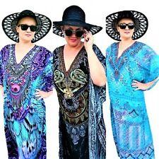 Kaftan Dress Crystal Embellished Evening Caftan Exotic Resort wear Viscose Crepe