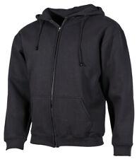 MFH Pro Company Sweatshirt-Jacke Sweatshirtjacke Sommerjacke Schwarz S-4XL