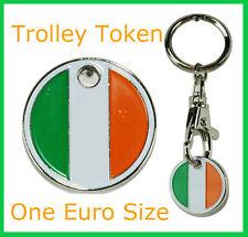 12 x One Euro Irish Trolley Coin Token Keyring Ireland