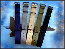 16mm NATO G10 Prem Ballistic PVD MoD RAF Military army watchband strap IW SUISSE