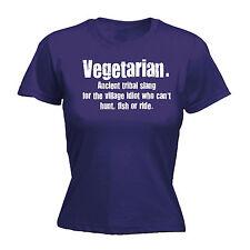 Vegetarian Tribal Slang WOMENS T-SHIRT Veggie Tee Vegan Hippie Gift birthday