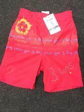 Garçons Rouge Angleterre Football Natation/Natation Shorts avec Integral Swim net