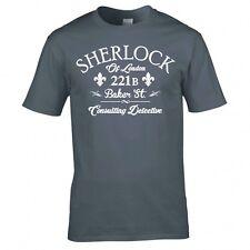 """Sherlock Holmes """"Consulente Investigativo"""" T Shirt Nuovo"""