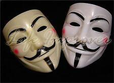 1 X Mascara V De Venganza Anonomo Guy Fawkes Disfraz 2 Colores