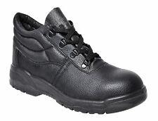 Portwest FW10 Steelite Black Leather Work Boot with Protective Steel Toecap ASTM