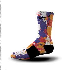 Custom Nike Elite Socks All Sizes 3 PEAT SPLATTER