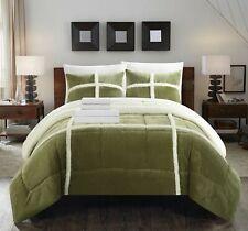Salander 7 Piece Comforter Bed in a Bag Sheets Decorative Pillow Shams Green